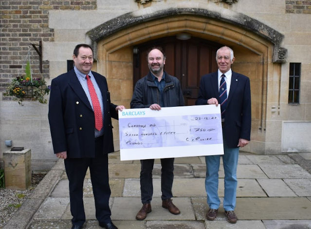 Cambridge Aid receives £750 from Cambridgeshire Freemasons Care & Relief